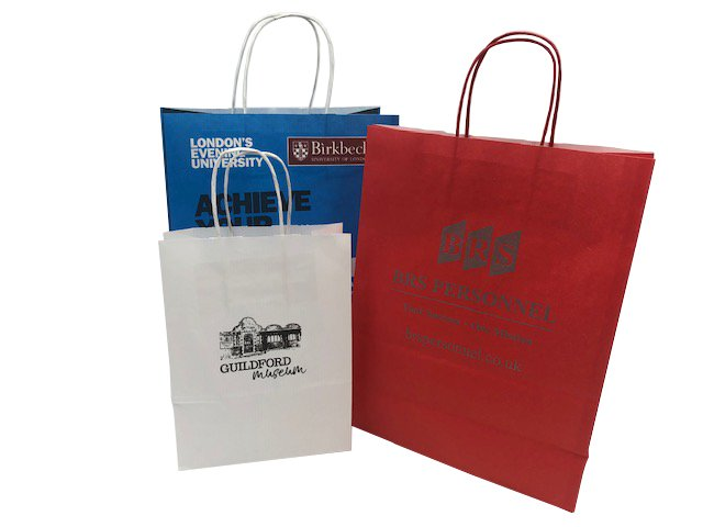 promotional twist handle carriers