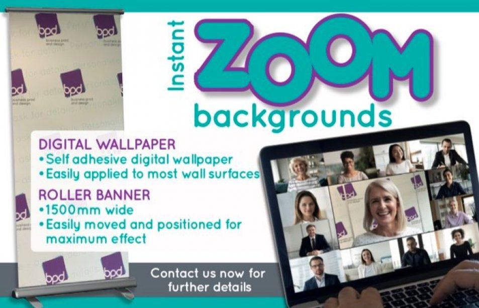 instant zoom background digital wallpaper rollerbanner
